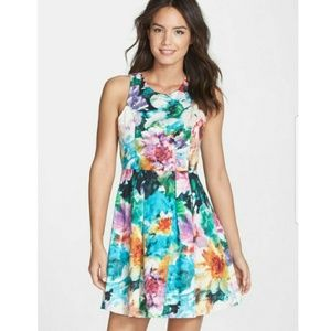 Felicity & Coco Watercolor Floral Fit Flare Dress